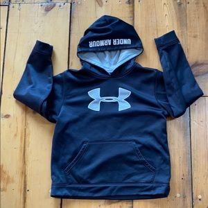 Boys XL Under Armour black gray hoodie
